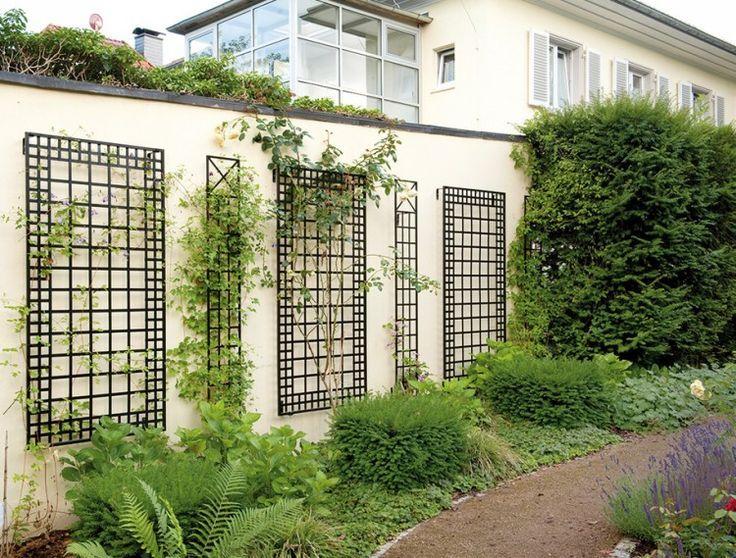 Gitter Ideen Fur Den Garten Wall Trellis Iron Trellis Metal Trellis