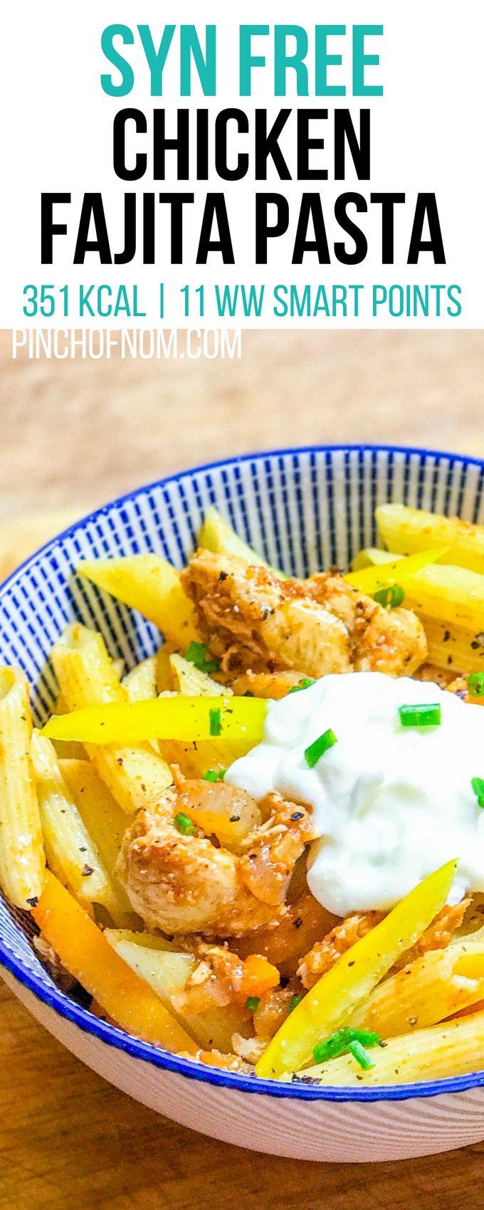 Syn Free Chicken Fajita Pasta | Pinch Of Nom Slimming World Recipes 351 kcal | Syn Free | 11 Weight Watchers Smart Points