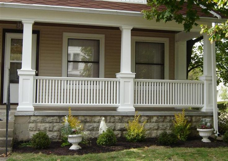 craftsman porch railing | Porch With Pillars                                                                                                                                                      More