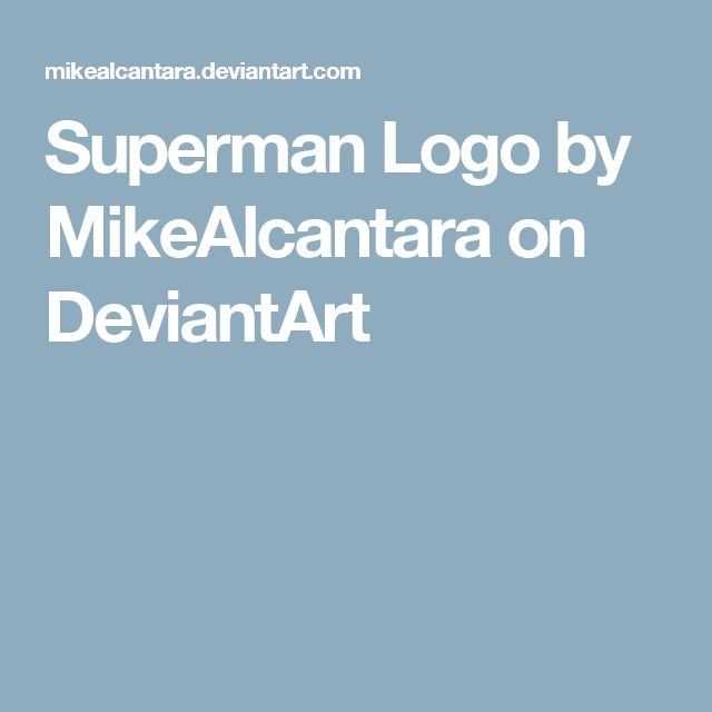 Superman Logo by MikeAlcantara on DeviantArt