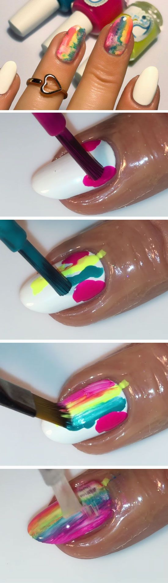 Tie Dye Hacks | Easy Spring Nail Designs for Short Nails | DIY Beach Nail Art Ideas for Teens