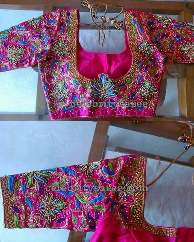 Elbow Length Blouse in Pink