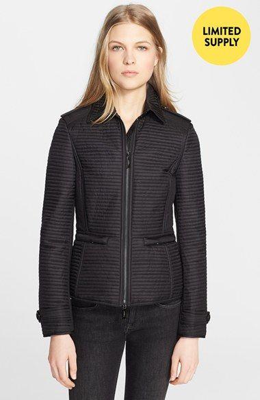 Quilted Burberry Jacket. | #sale #nordstromsale @nordstrom