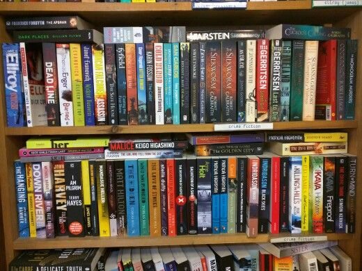 Thrillers and Crime novels available at the Old Street station bookshop.