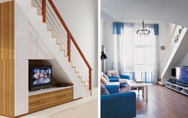 Aprovechando el espacio bajo la escalera usos for Cocinas debajo de las escaleras