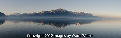 Panoramic from Montreux, Switzerland.  9 stitched images.  Photo taken by Wade Walker.