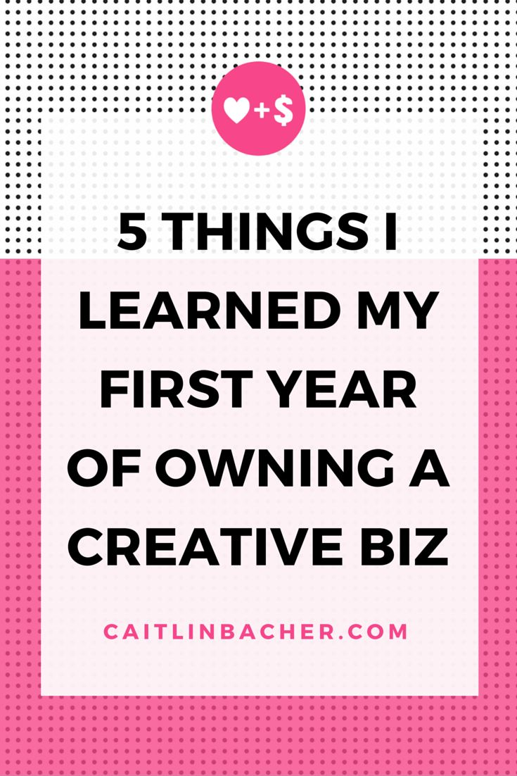 5 Things I Learned My First Year Of Owning A Creative Business | Caitlin Bacher