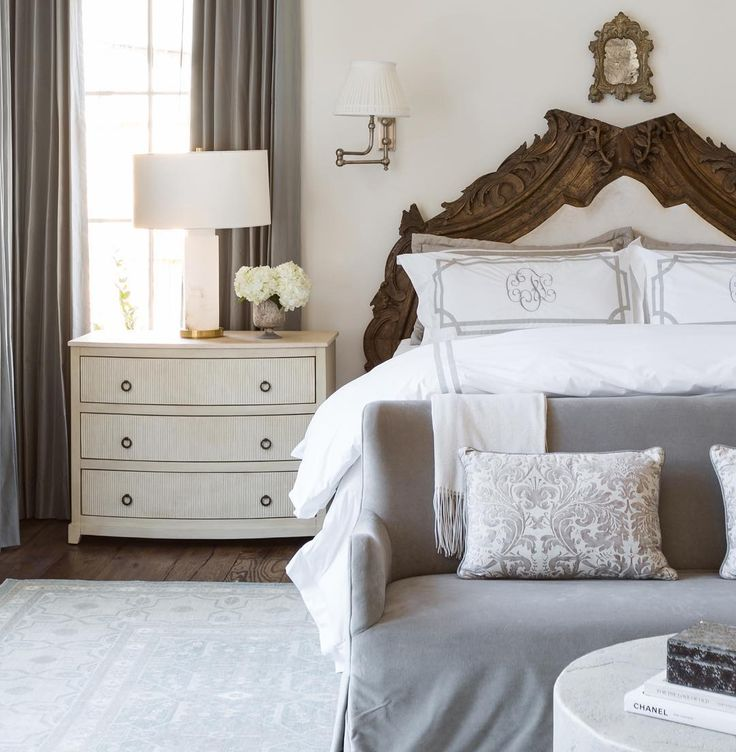 Monogram bedding makes a master bedroom feel like a master bedroom!