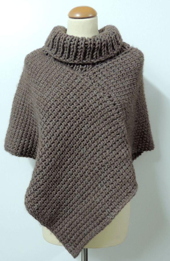 Materiales necesarios:     - 600 gr de lana Ontario   - un ganchillo tunecino del número 10   - unas agujas circulares del núme...