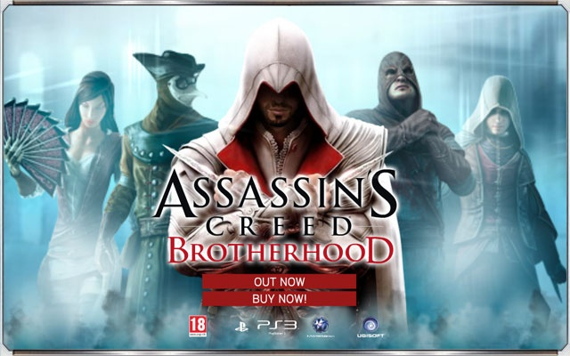 Ubisoft Flash banner campaign for the game Assassins Creed Brotherhood
