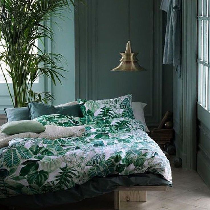 green bed sheets beddings plant mint