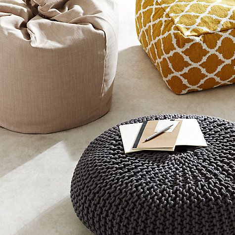 Buy House By John Lewis Knitted Pouffe Online At Johnlewis Bean Bags OnlineBuy HouseKnitted PouffeJohn LewisKitchen IdeasVictoriaVictoria