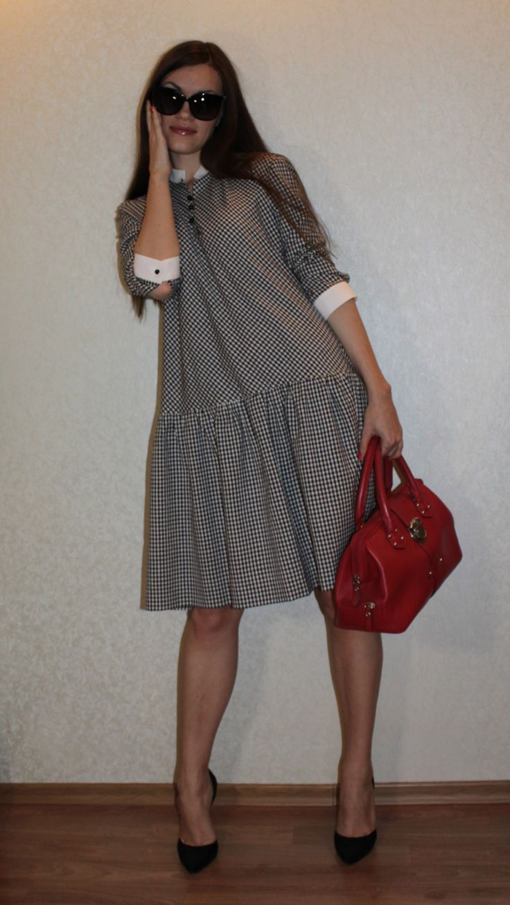 "Платье-рубашка ""Белые воротнички"" / Фотофорум / Burdastyle"