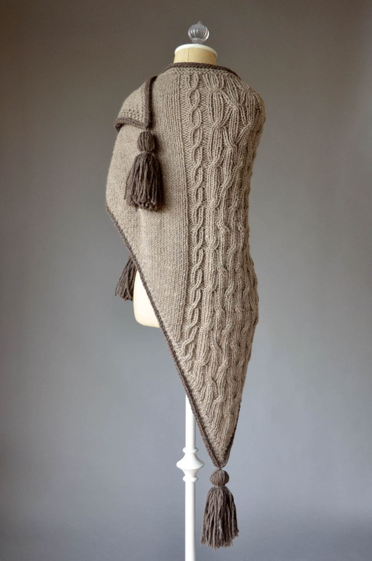 Free Pattern Friday - Sailing Stone Shawl knit in Universal Yarn Deluxe Chunky Naturals.