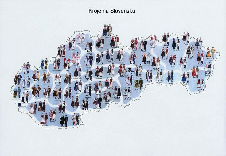 Kroje map - Traditional Slovak Costumes