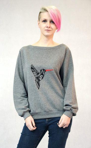 Bluza haftowana - Koliber w BLOUZ  na DaWanda.com