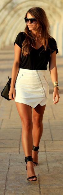 Snake Bite Ivory Mini Skirt