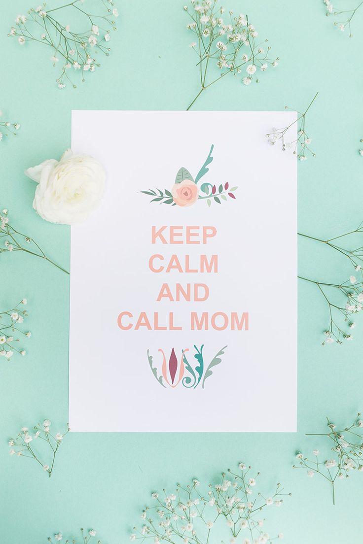 """DIY-Anleitung: Muttertags-Poster """"Keep Calm"""" zum Ausdrucken / free printable for Mother's Day, giftidea for her via DaWanda.com"""