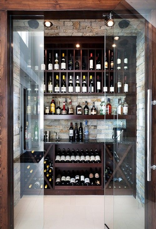 17 best ideas about liquor cabinet on pinterest small for Walk in wine cellars