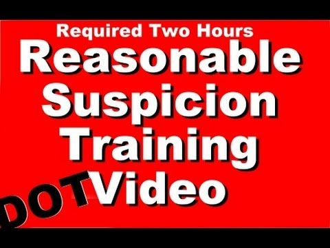 Reasonable Suspicion Training Video for DOT Supervisor Compliance