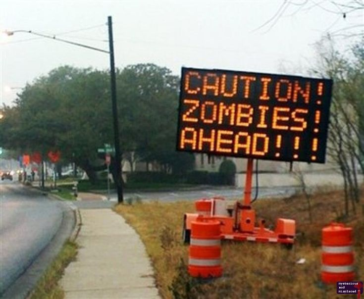 Zombies sign by Chris N. Brown.