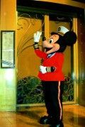 Mickey (one of the options for a Character phone call) on the Disney Wonder, August 2008