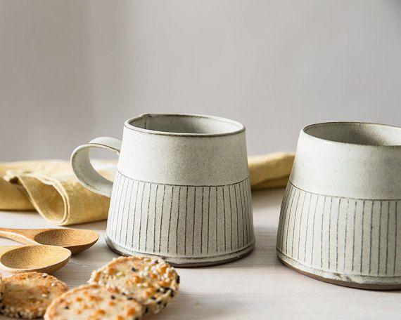 Taza de cerámica taza de té moderna blanco taza de cerámica