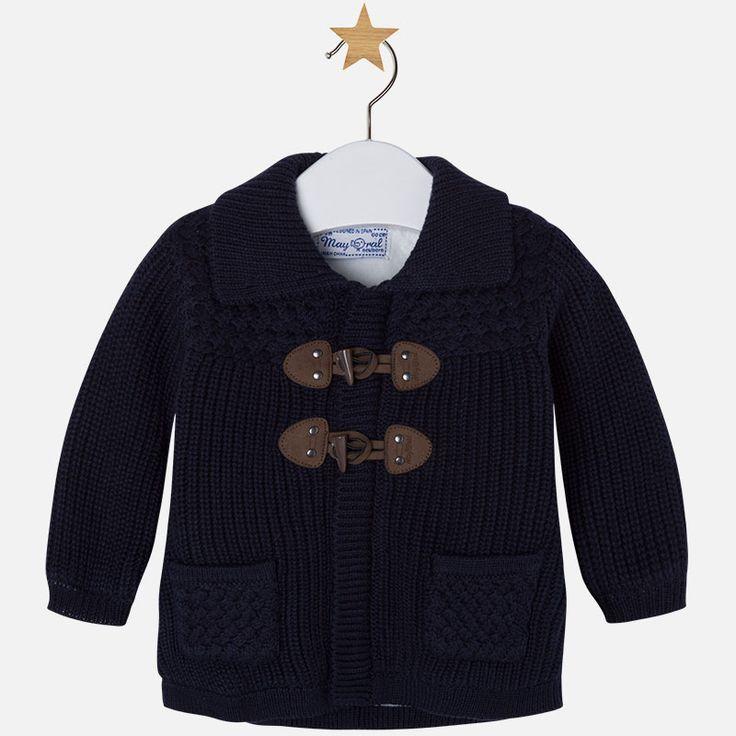 Mayoral Erkek Bebek Kışlık Triko Örme Hırka Ceket Koyu Mavi