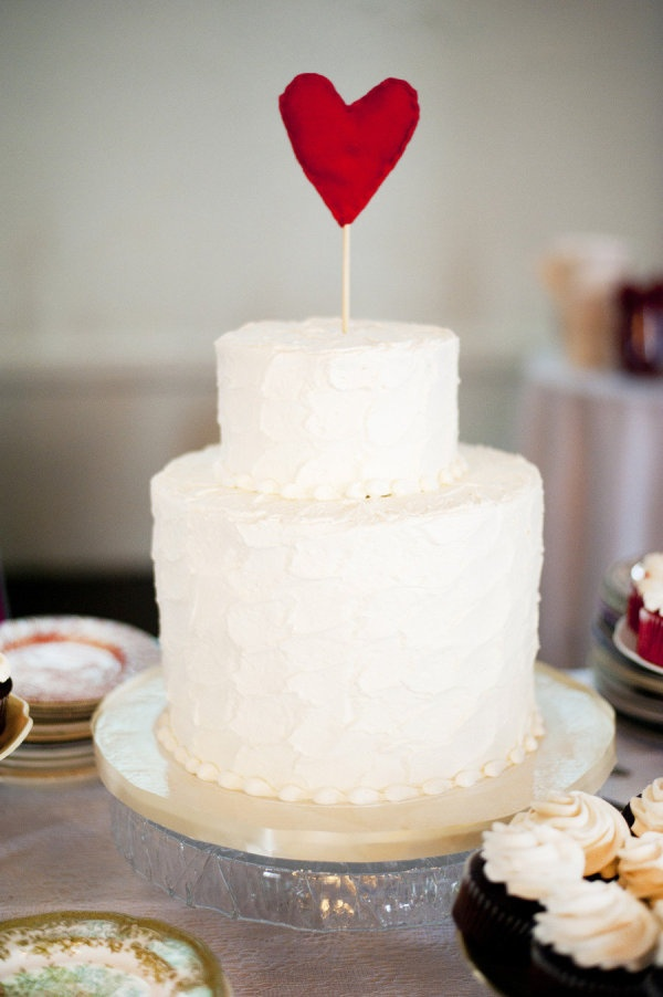 heart-topped cake  Photography by https://www.facebook.com/pages/Crystal-K-Martel-Photography/140097172751177, Event Design by http://jessicasloane.com/