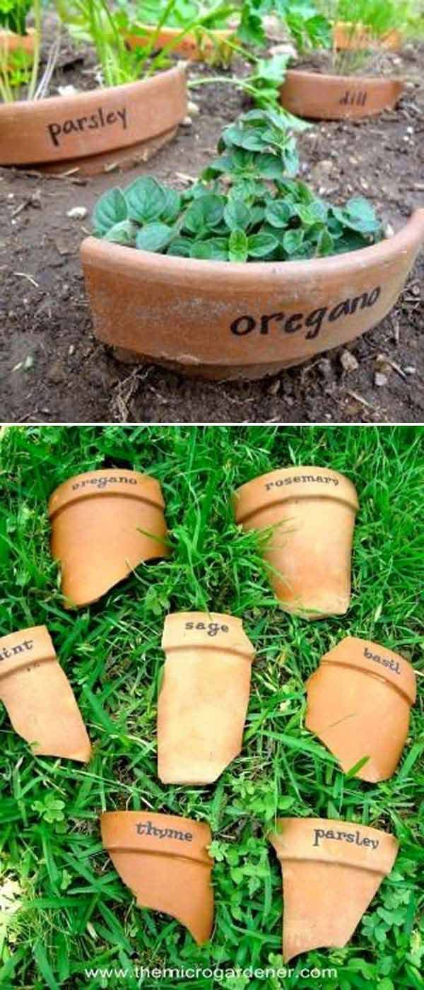 awesome 19 Cute and No-money Ideas to Label the Garden Plants