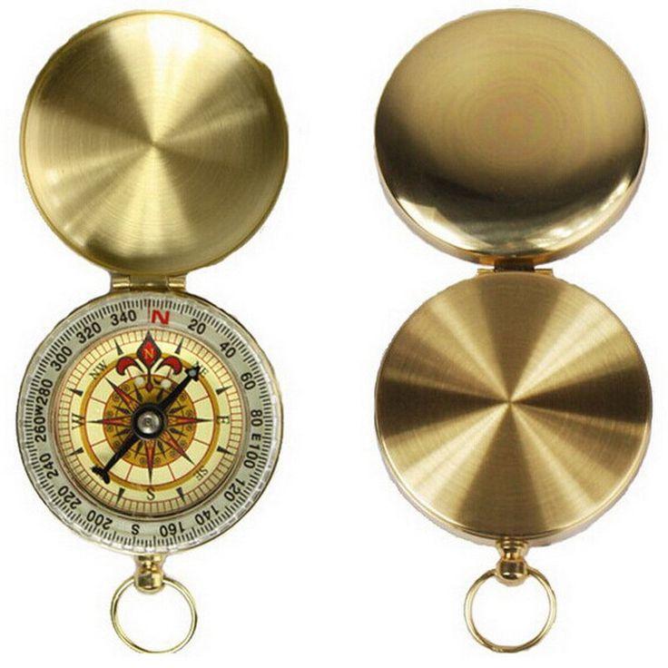 Portable Brass Golden Compass Now $7.48 with FREE WORLDWIDE SHIPPING!!    #survival #survivalist #survivalgear #survivalkit #bushcraft #woodsman #prepper #bugout #camping #campinggear #hiking #mountainlife #tacticalgear