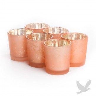 2.5 x 2.25 Antique Orange Glass Votive Cup (Case of 12) [403345