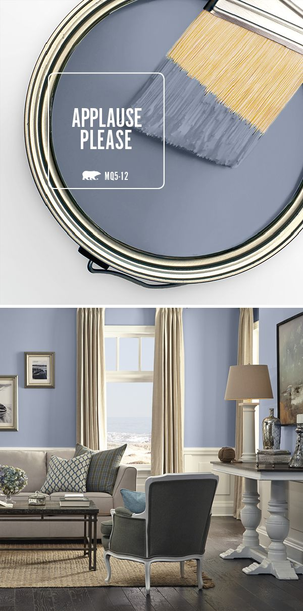 There's something about a paint shade with unique undertones that adds so much to a space. Applause Please is the perfect cool grayish blue to add a sophisticated spin to your living room or master bedroom.
