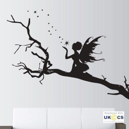 Wall Stickers Angel Trees Stars Fairy Fairytale Art Decals Vinyl Decor Room Home