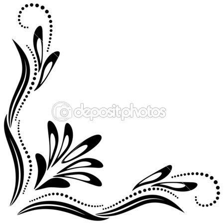 Ornamento decorativo esquina — Ilustración de stock #29561217
