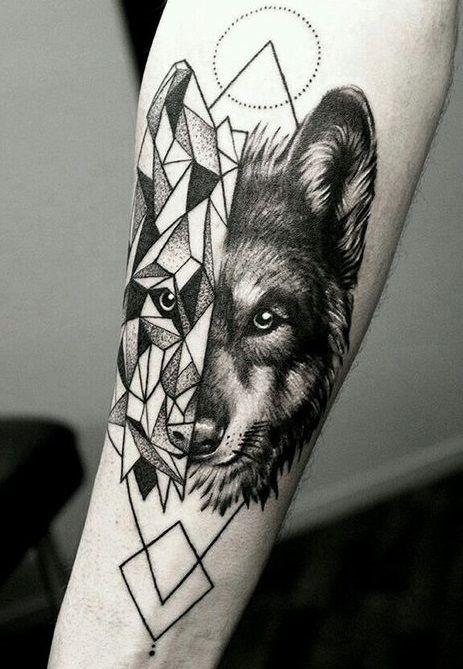 831fe40a0 As 60 melhores tatuagens de lobo | TATUAJES | Tatuagem masculina ...