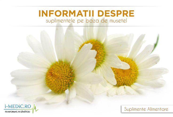 Musetelul este o planta folosita de multe secole pentru persoanele cu probleme in ceea ce priveste somnul sau pentru tulburarile stomacale.  Exista 2 tipuri de musetel, folosite ca remedii naturiste, in prezent: musetelul german (Matricaria retutica ) si musetelul roman sau englez (Chamaemelum nobile) -   http://www.i-medic.ro/diete/suplimente/informatii-despre-suplimentele-pe-baza-de-musetel
