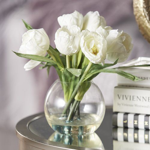 Found it at Joss & Main - Faux White Tulip