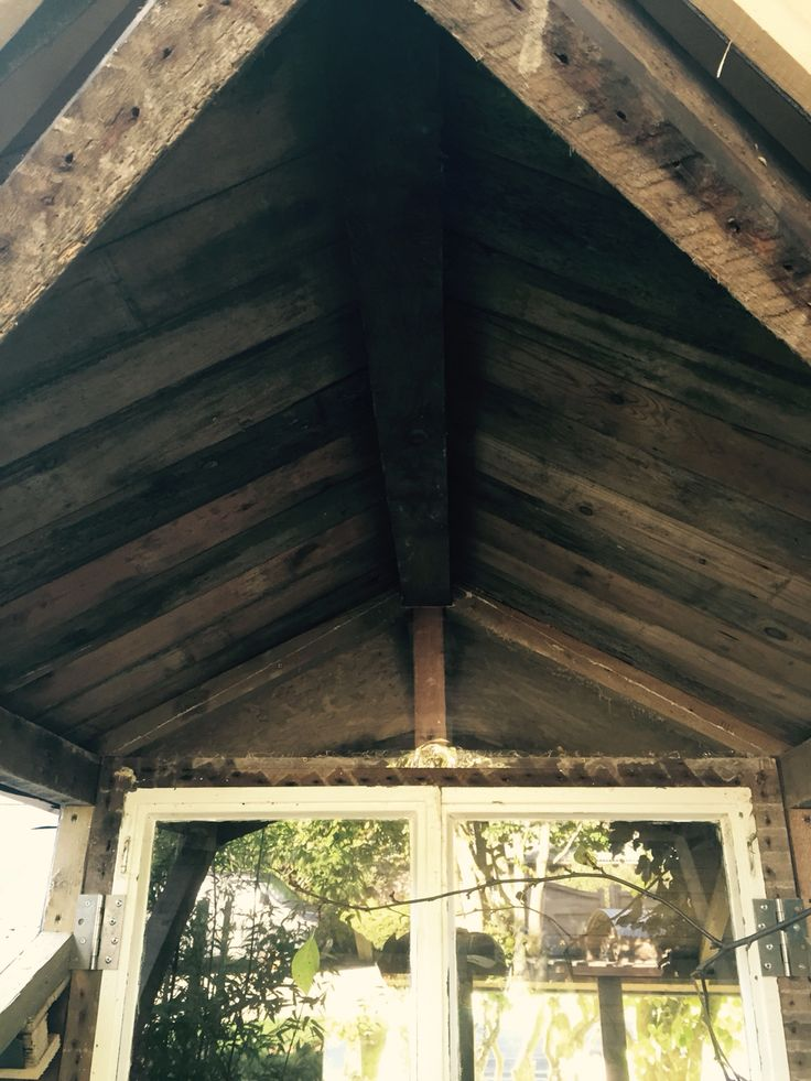 The under side of the porch I'd old T&G