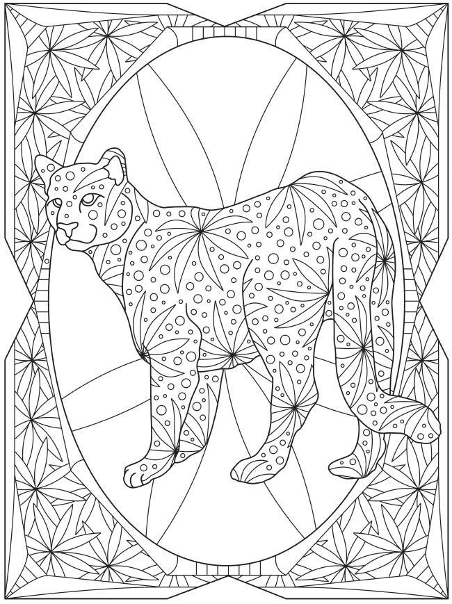 design coloring pages of animals - photo#5