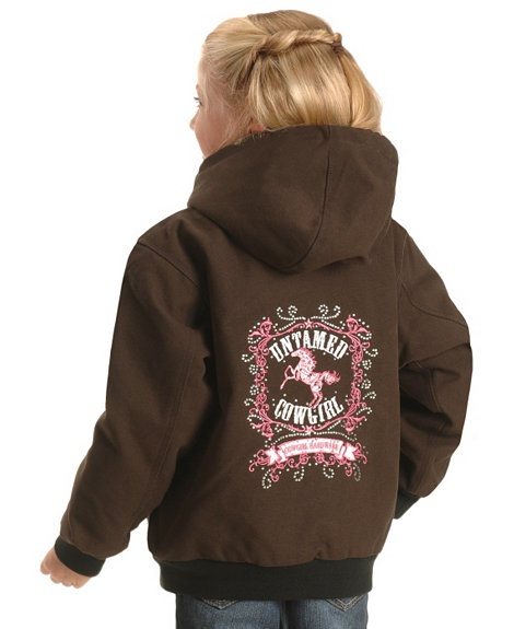 Cowgirl hardware girls untamed embroidered horse