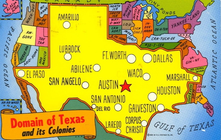 How texans describe the US: Things Texas, Texans Maps, Ginuwin Texans, Texas Maps, Usa, Bags, Rednecks, True Stories, Step