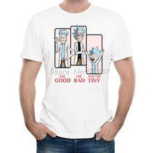 Nieuwste Grappige Cartoon Rick Morty Ontwerp T-shirt De Goede De slecht En de Tiny T-Shirt mannen Hoge Kwaliteit Hipster Cool Tee Tops(China (Mainland))