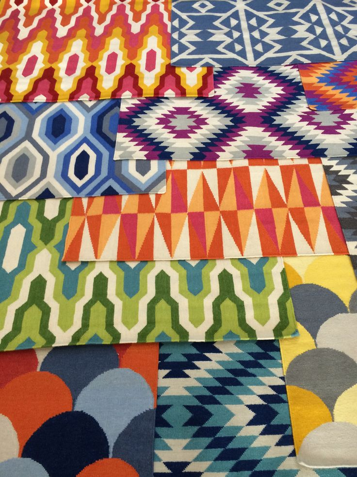 The new vibrant and colourful range of flatweave, NZ wool blend rugs in store now!
