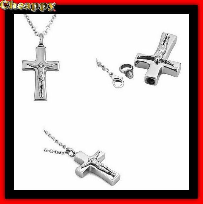 As hanger, As urn hart vorm van een kruis met jezus afbeelding