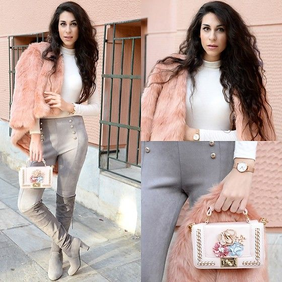 Get this look: http://lb.nu/look/8892205  More looks by Marina Mavromati: http://lb.nu/marinafashionistaa  Items in this look:  Chic Me  Faux Fur Coat, Chic Me  Faux Suede Pants, Chic Me  Faux Suede Boots, Daniel Wellington Classic Melrose Petite, Rosegal Flower Bead Crossbody Bag, Pinky Paradise  Grey Contact Lenses   #chic #elegant #street #mmfashionbites #ootd #blogger #fashionblogger #styleblogger #fashion