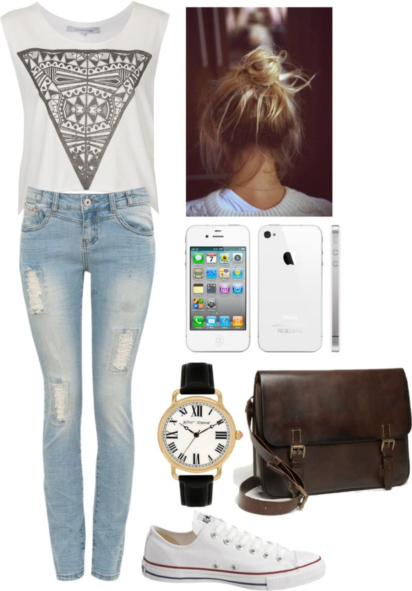 """""""almost everyday look"""" by brokenbiscuit on Polyvore"""