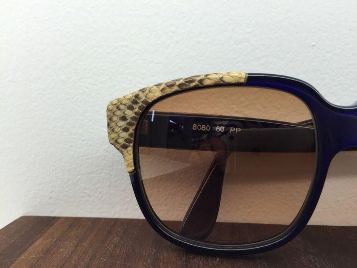 1970's Emmanuelle Khanh snake skin wrap sunglasses by blackandbluevintage on Etsy https://www.etsy.com/listing/223851050/1970s-emmanuelle-khanh-snake-skin-wrap