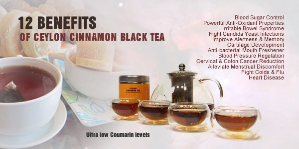 Discover the 12 benefits of Cinnamon Tea made with real cinnamon tea as opposed to cinnamon flavored tea.