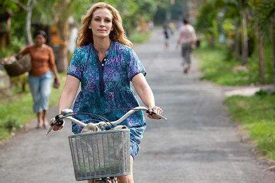 10 Films To Watch While Traveling #refinery29  http://www.refinery29.com/2014/12/79549/travel-films#slide3  Eat Pray Love, 2010  It's the ultimate in navel-gazing travelogues, but that doesn't mean you can't pretend you aren't desperate to chow down on pasta, cleanse your soul, and fall in love all on one vacation.